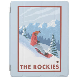Snowboarder Scene - The Rockies iPad Cover