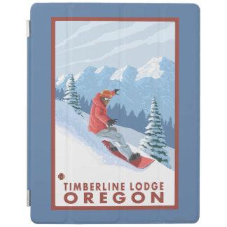 Snowboarder Scene - Timberline Lodge, Oregon iPad Cover