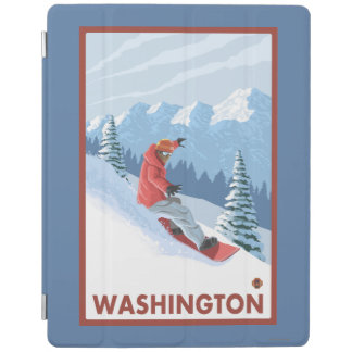 Snowboarder Scene - Washington iPad Cover
