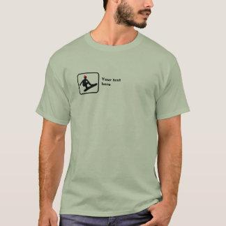 Snowboarder -- Small Logo -- Customizable T-Shirt