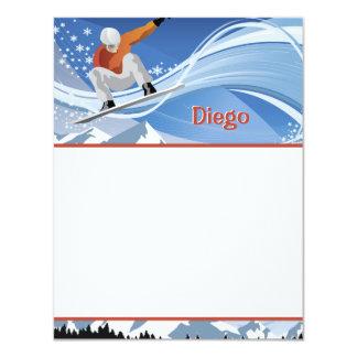 Snowboarder Stationery 11 Cm X 14 Cm Invitation Card