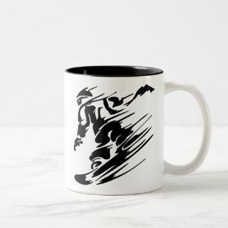 Snowboarding Extreme Sports Two-Tone Coffee Mug