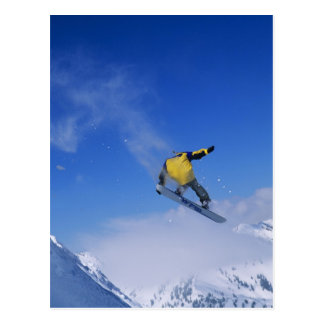 Snowboarding in Grizzly Gulch, Little Cottonwood Postcard