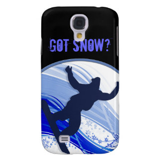 Snowboarding & Snowflakes Galaxy S4 Case