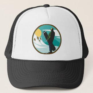 Snowboarding Trucker Hat