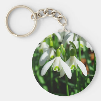 Snowdrop flowers key ring