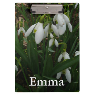 Snowdrops I (Galanthus) White Spring Flowers Clipboard