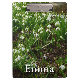 Snowdrops II (Galanthus) White Spring Flowers Clipboard