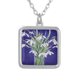 Snowdrops Silver Plated Necklace
