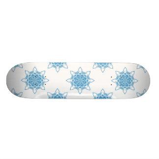 Snowflake Blue 18.1 Cm Old School Skateboard Deck