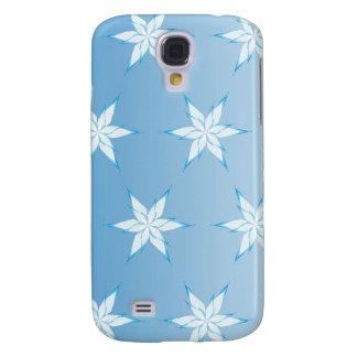snowflake  blue galaxy s4 case