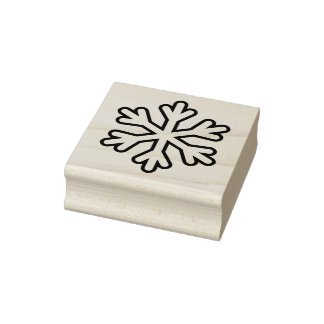 Snowflake Four Christmas Rubber Stamp
