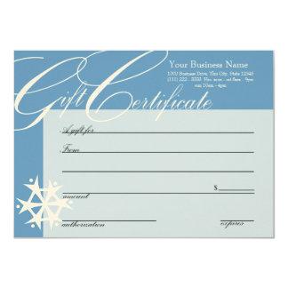 Snowflake Gift Certificate Card