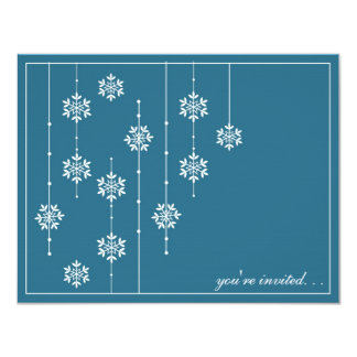 Snowflake Holiday Party Invitaitons 11 Cm X 14 Cm Invitation Card