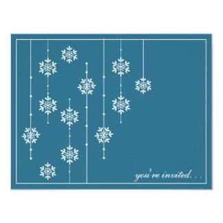 Snowflake Holiday Party Invitaitons 11 Cm X 14 Cm Invitation Card