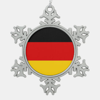 Snowflake Ornament with Germany Flag