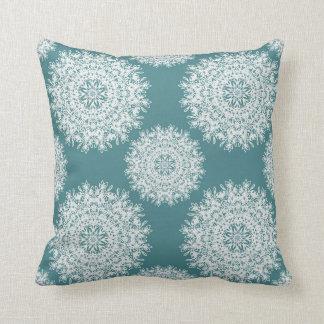 Snowflake pillow (Blue)