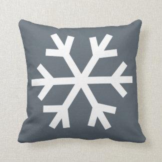 Snowflake pillow - grey