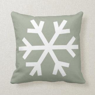 Snowflake pillow - olive