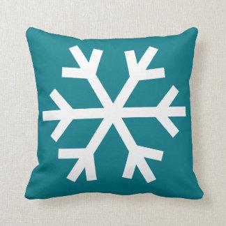Snowflake pillow - teal