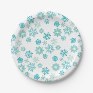 Snowflake plates 7 inch paper plate