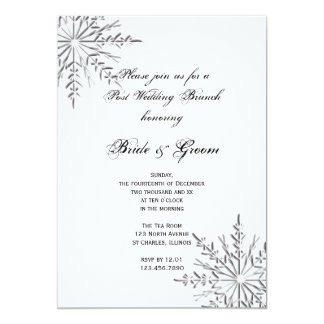 Snowflake Post Winter Wedding Brunch Invitation