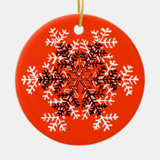 Snowflake Red White Transp The MUSEUM Zazzle Christmas Tree Ornament