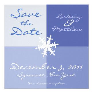 Snowflake Save the Date Custom Invitations