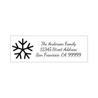 Snowflake - Self Inking Address Stamp