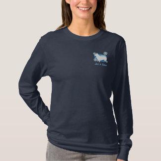 Snowflake Swedish Vallhund Embroidered Shirt