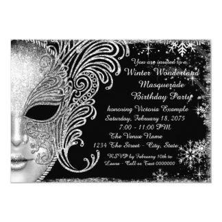 Snowflake Winter Wonderland Birthday Party Card