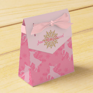 Snowflakes and Reindeers Baby Shower Favor Box Favour Boxes