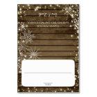 Snowflakes Barn Wood Seating Card