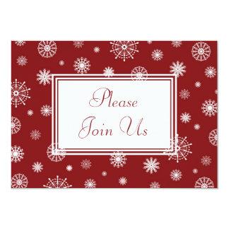 "Snowflakes Christmas Dinner Invitation Card 5"" X 7"" Invitation Card"