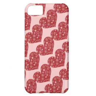 Snowflakes in Heart iPhone 5C Case