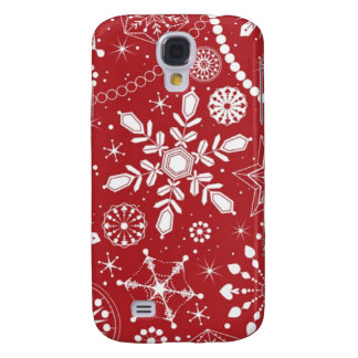 Snowflakes in Stocking Galaxy S4 Case