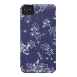 Snowflakes in the night sky iPhone 4 Case-Mate case
