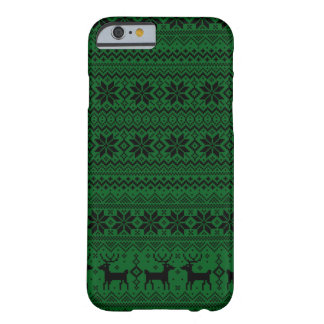 Snowflakes Reindeer Xmas Pattern Christmas Sweater Barely There iPhone 6 Case