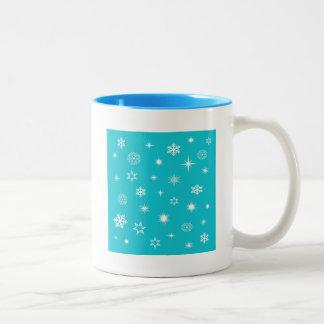 Snowflakes theme Two-Tone mug