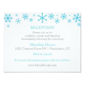 Snowflakes Winter Wedding Reception Cards