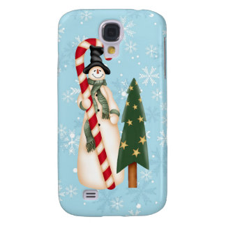 Snowman and Christmas Tree  Galaxy S4 Case