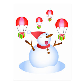 Snowman Deliveries Postcard