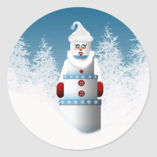 Snowman Forest Christmas Designs Stickers