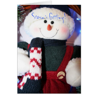 Snowman s Season Greetings Card