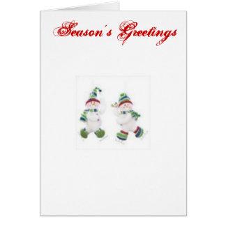 Snowman s Season s Greetings Card