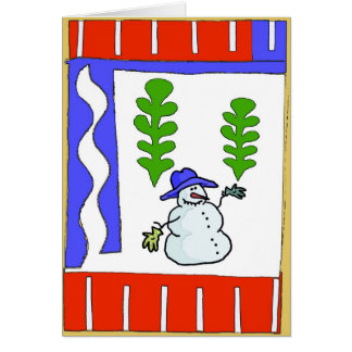 Snowman Season s Greetings Greeting Card