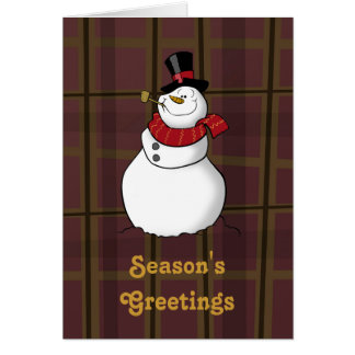 Snowman Season s Greetings Card