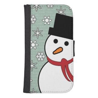 Snowman & Snowflakes Winter Wallet Case