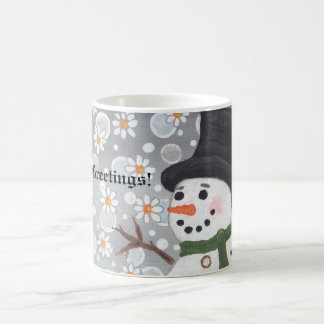 Snowman Snowstorm Season s Greetings Mug