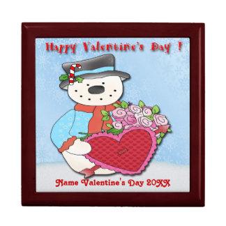 Snowman Valentine's Day Gift Box/Trinket Box
